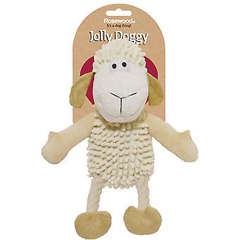 Vrolijk hondje natuurlijke boerenerf schapen 33cm (pak van 3)