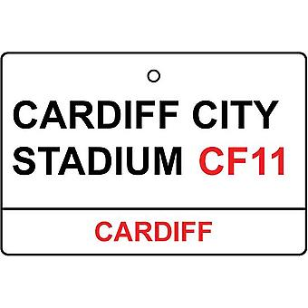 Cardiff City Stadium Street Sign Car Air Freshener