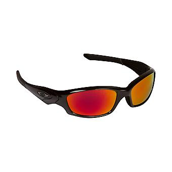 New SEEK Replacement Lenses for Oakley STRAIGHT JACKET Red Silver Mirror