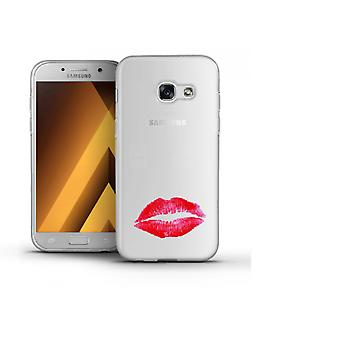 Capa Lips Transparent para Galaxy A5 (2017)