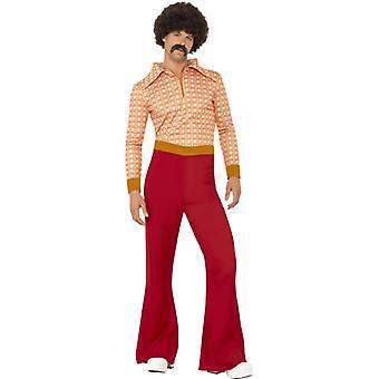 70s disco dancer suit chic orange costume men