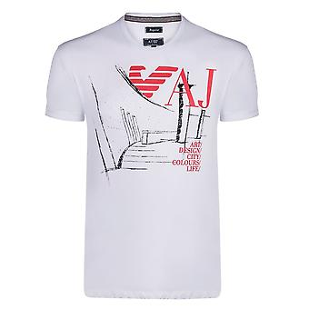 Armani wit grafisch Mens T-Shirt