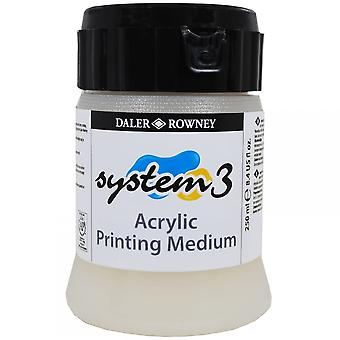 Daler Rowney System 3 Acryl Druck Medium 250ml