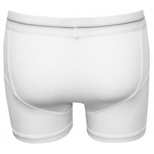 James Tudor Button Fly Boxer Trunk, White
