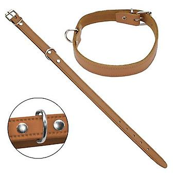 Petpall Collar Cuero Liso 40 Cm Natural (Dogs , Walking Accessories , Collars)