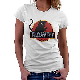 Camiseta para mujeres Parque de gato de gatito Jurásico Rawr