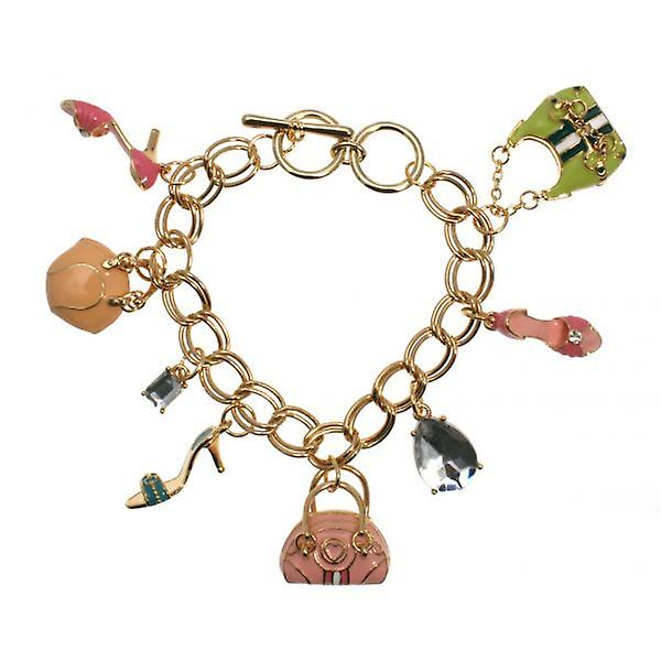 W.A.T Pastel Stepping Out Charm Bracelet