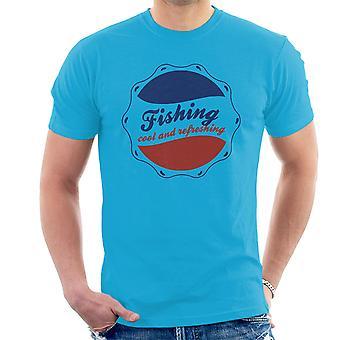 Рыбная ловля прохладный и освежающий логотип Pepsi Мужская футболка