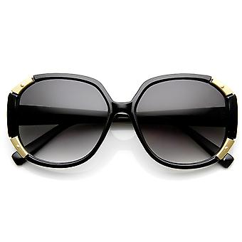 Womens Fashion Metal Accented Oversized Sunglasses