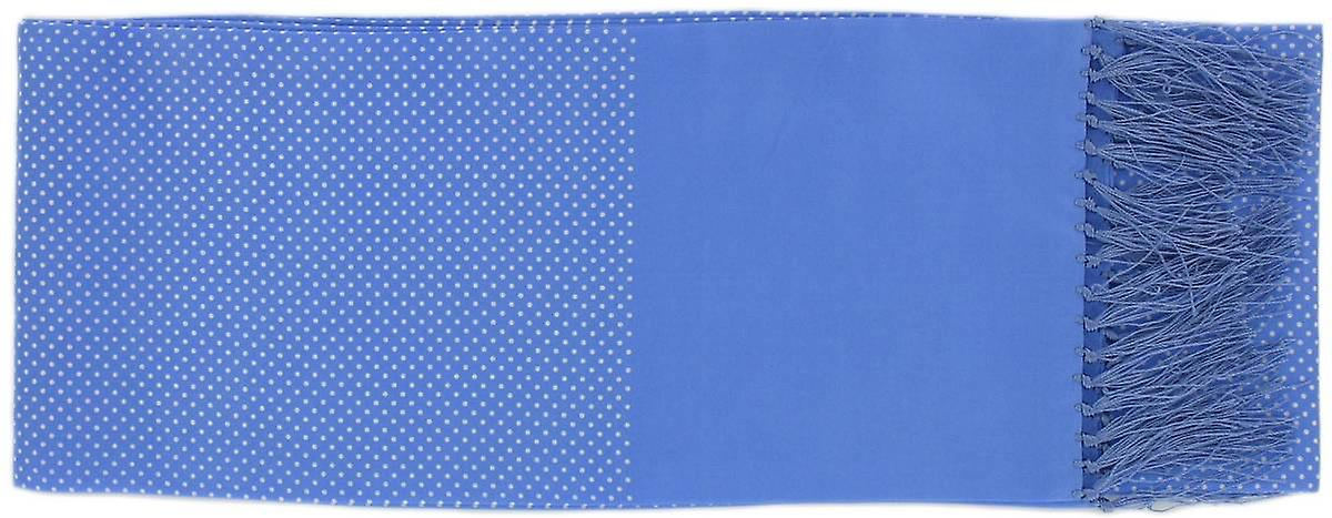 Michelsons of London Pin Dot Silk Scarf - Ice Blue
