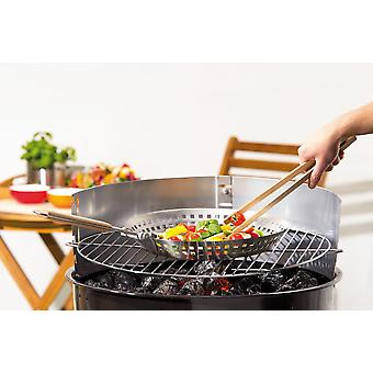 Grill Pan with folding handle around stainless steel Pan stainless steel Pan