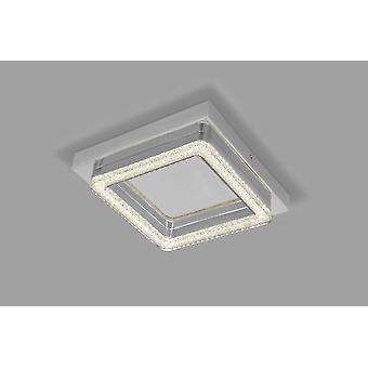 Led ceiling lamp Wall lamp Crilou SQ-S 28x28cm Crystal diffuser 16W chrome 10737