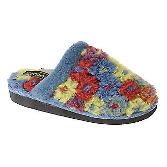 Sleepers Womens/Ladies Karlie Floral Thermal Lined Mule Slippers