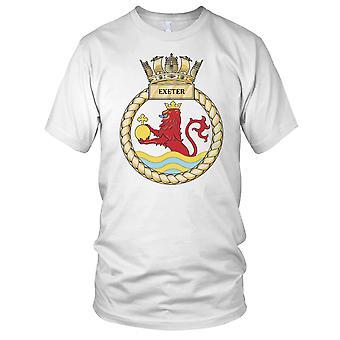 Royal Navy HMS Exeter Damen T Shirt