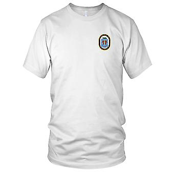 US Navy BB-64 USS Wisconsin Embroidered Patch - Devil Bomb Hurler Mens T Shirt
