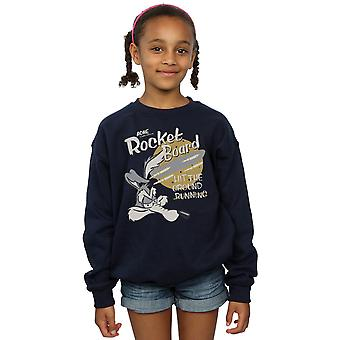 Looney Tunes Girls Wile E Coyote Rocket Board Sweatshirt