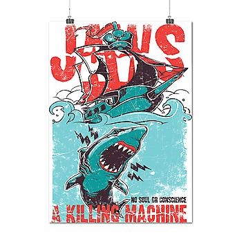 Matte or Glossy Poster with Jaws Killing Machine | Wellcoda | *d132