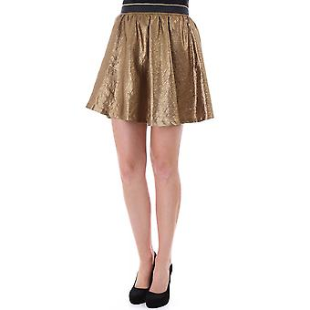Maison Scotch Party Skirt In Gold With Tulle Underlayer