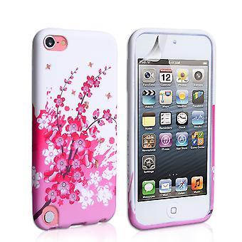 Yousave accesorios Ipod Touch 5G Flores abeja silicona Gel caso