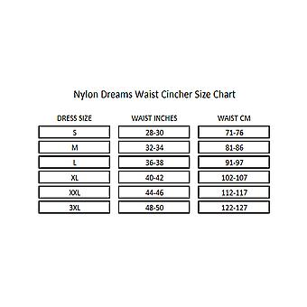 Nylon Dreams NDLWC1 Women's Black Solid Colour Light Control Slimming Shaping Waist Cincher