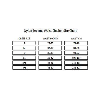 ナイロンの夢 NDLWC1 女性の黒のソリッド カラー光制御シェーピングのウエスト ニッパーをスリミング