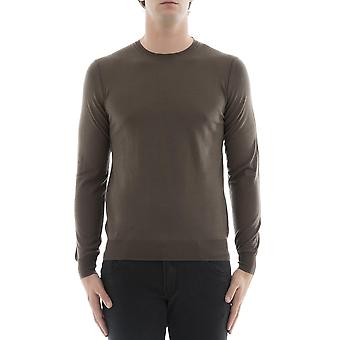 Paolo Pecora men's A001F0012232 Brown wool sweater