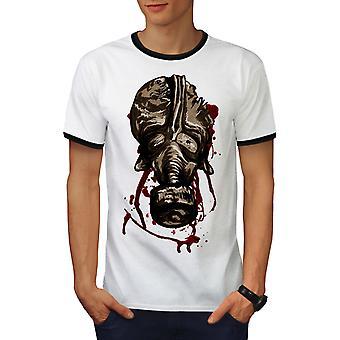 Maskeren van eng griezelig mannen wit / BlackRinger T-shirt | Wellcoda