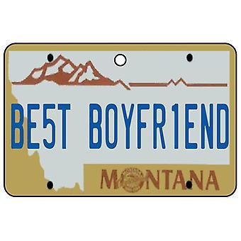 Montana - bästa pojkvän registreringsskylt bil luftfräschare
