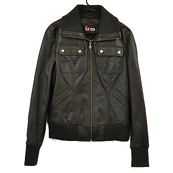 Womens Bomber Leather Jacket - Classic Style