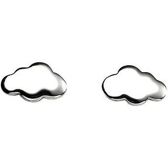 Beginnings Cloud Stud Earrings - Silver