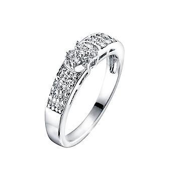 Kristall Swarovski Elements weißen Ring und Rhodium - T54