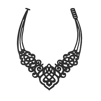 Arabesque in Silicone black effect tattoo necklace