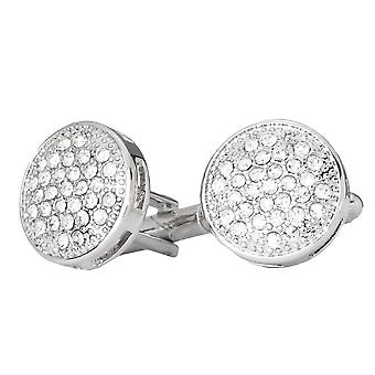 Iced out Hip Hip cufflinks - round bling