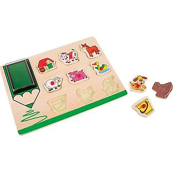 Legler Stamps puzzle Farm (Babies and Children , Toys , Preschool , Puzzles And Blocs)