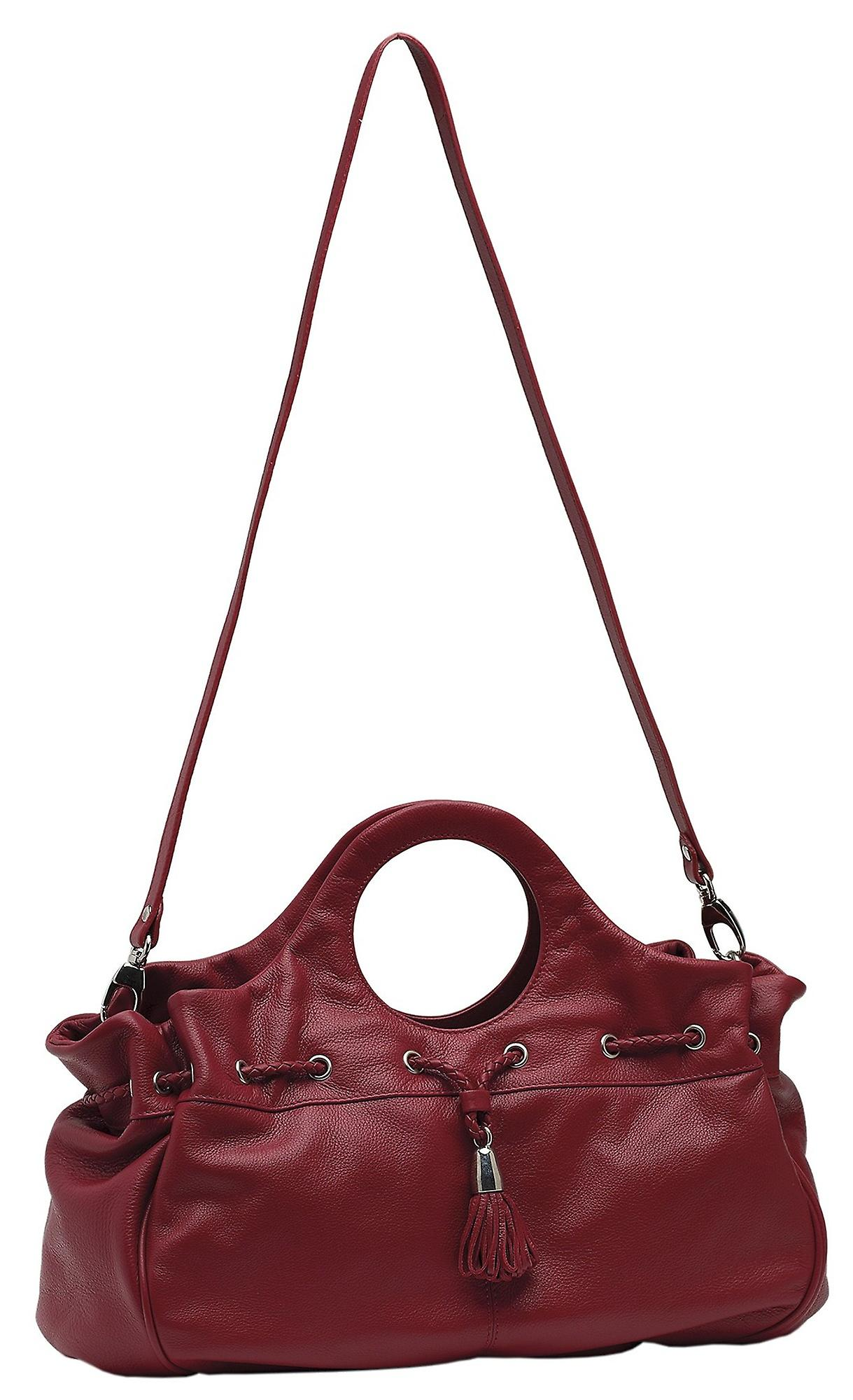 Burgmeister ladies bag T216-114B leather rouge