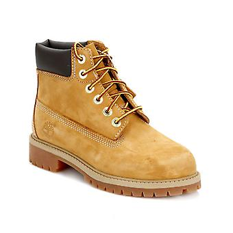 Timberland Youth Wheat Premium 6 Inch Nubuck Leather Boots