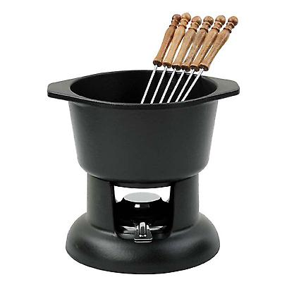 Chasseur Cast Iron Fondue Set 6 fourchettes Noir Mat 11800101