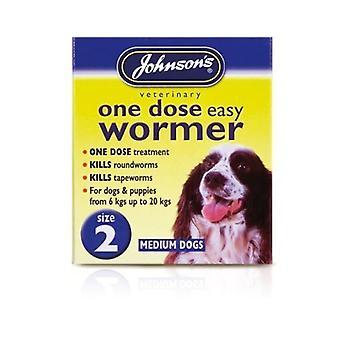 Johnsons One Dose Easy Wormer Tablet for medium dog (upto 20 kg)