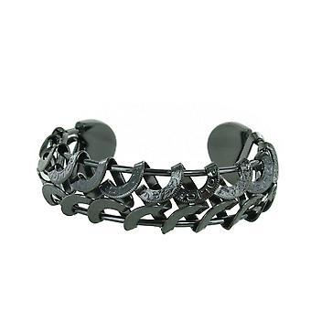 Police unisex bracelet Crescent stainless steel black PJ. 20705BSB/02