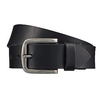 Cintura pelle nera in pelle di bovino manzo completo in pelle Cinture cinture 4299