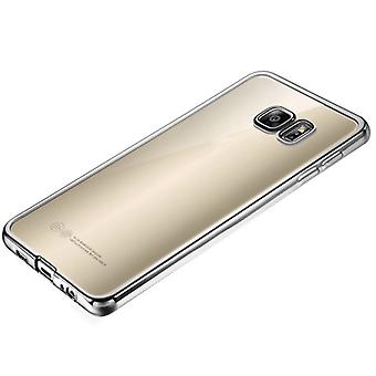 Premium TPU Silikoncase silver for Samsung Galaxy S7 edge G935 G935F