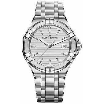 Maurice Lacroix Mens Aikon Stainless Steel Quartz Silver Dial AI1008-SS002-131-1 Watch