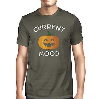 Kürbis aktuelle Stimmung T-Shirt Herren grau Graphic Tee Geschenke für Papa