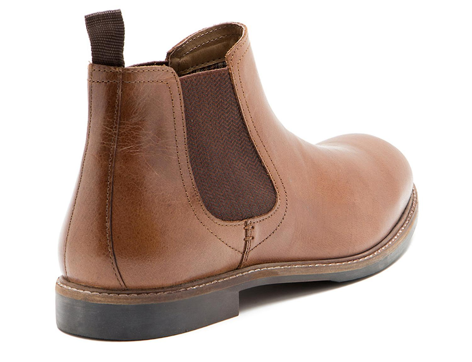 36a01766247 Red Tape Morley Tan Leather Mens Chelsea Boots