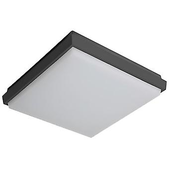 Wellindal Square Fogfix ceiling lamp 9W Ip54 Gray