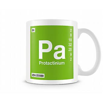 Element Symbol 091 Pa - Protactinium Printed Mug