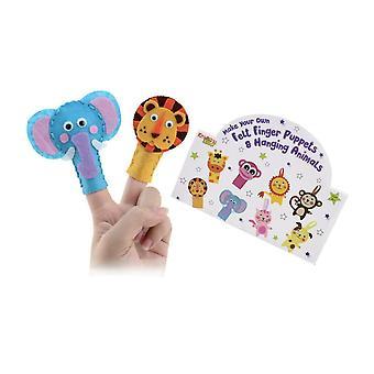 Сделать свой собственный палец почувствовал куклы висит животных отправлены в случайном порядке