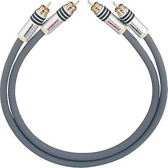 RCA Audio/phono Cable [2x RCA plug (phono) - 2x RCA plug (phono)] 1 m Anthracite gold plated connectors Oehlbach NF 14 MASTER