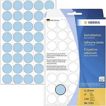 Herma 2253 Labels Ø 19 mm Paper Blue