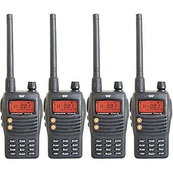 Team TeCom-X5 elektronische PR8582 PMR handheld Transceiver 4-teiliges set